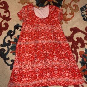 Pink rose dress size small